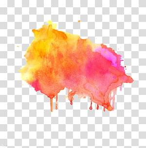 ilustrasi cat percikan warna-warni, Ilustrasi lukisan Cat Air, Menggambar noda tinta grafiti Shading png