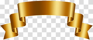 ilustrasi pita emas, Emas, Spanduk Emas Mewah Gratis PNG clipart
