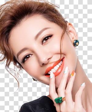 wanita tersenyum memegang bibir sambil mengambil selfie, Lip balm Kosmetik Lipstik Kosmetik, Rias Wajah Rias Wajah Wanita PNG clipart