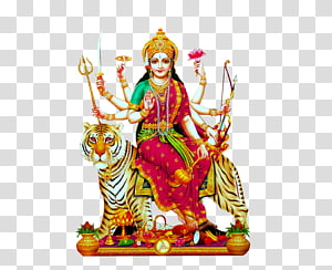 Ilustrasi Buddha wanita yang menunggang harimau, Kuil Kanaka Durga Durga Puja Kali, Dussehra png