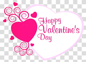 Kartu Ucapan Hari Valentine Wish Heart, Happy Valentines Pink Heart Decor, hari valentine putih dan merah hati png