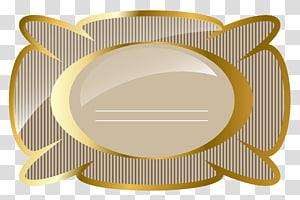 perbatasan lempengan coklat, Label Emas, Krim dan Emas Mewah PNG clipart