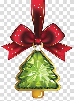 pita merah dengan ilustrasi liontin, Hari Natal hiasan Natal hiasan pohon Natal, Hiasan Pohon Kristal Natal PNG clipart