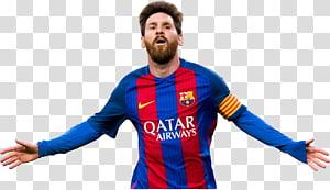 pria yang mengenakan seragam sepak bola merah dan biru, Poster FC Barcelona Football player Tim nasional sepak bola Argentina, lionel messi png