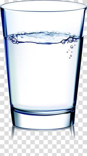 Secangkir air, gelas minum bening dengan ilustrasi tutupnya png