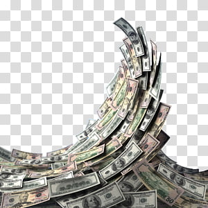 Ilustrasi dolar uang kertas AS, tagihan satu dolar Amerika Serikat tagihan seratus dolar Amerika Serikat Uang Dolar, tagihan dolar Gelombang png