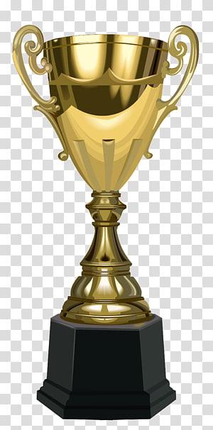 Trophy Prize Award, Trophy Piala, ilustrasi trofi berwarna emas dan hitam png