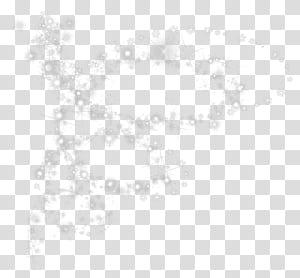 Pola Titik Titik Hitam dan Putih, Kepingan Salju dengan Efek Bersinar png