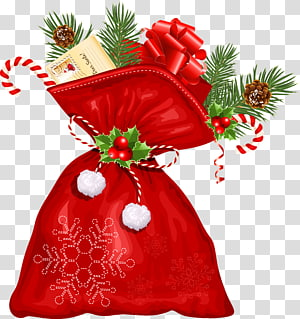Ilustrasi paket hadiah Natal, Grafis Scalable Natal Santa Claus, Tas Natal Santa Besar png