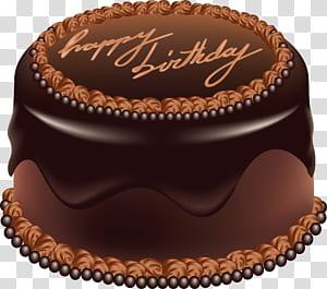 Kue Ulang Tahun Kue Coklat, Kue Cokelat Selamat Ulang Tahun Seni Besar, icing kue ulang tahun cokelat png