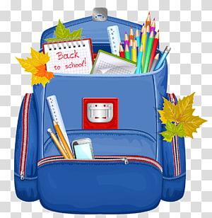 Sekolah Ransel, Ransel Sekolah Biru, ilustrasi ransel biru png