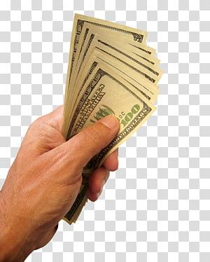 orang yang memegang uang kertas 100 dolar AS, Rekening Tabungan, Pembayaran Anggaran, Memegang Uang Dolar AS png