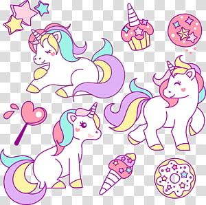 ilustrasi unicorn putih, Ilustrasi Menggambar Unicorn, kuda poni lucu png