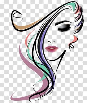 potret grafis gadis, Gaya Rambut Salon Kecantikan Wanita, salon rambut PNG clipart