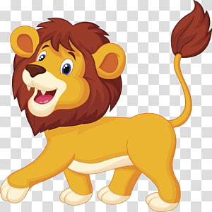Animasi Kartun Singa, singa, singa png
