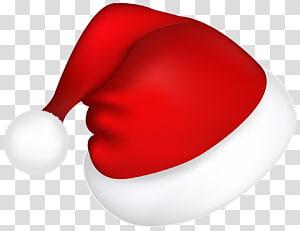 Permen Natal Santa Claus, Topi Santa Merah Besar, topi Santa merah dan putih png