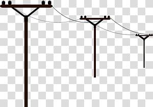 tiang listrik, saluran listrik overhead, tiang telepon png