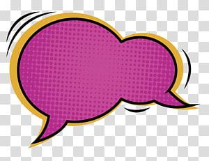 kotak kutipan merah muda dan kuning, kotak Dialog Komik, balon pidato, kotak dialog komik merah png