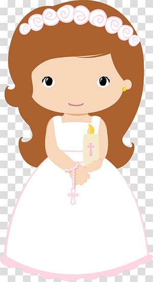 ilustrasi karakter kartun wanita, Baptisan Ekaristi Anak Komuni Pertama, komuni png
