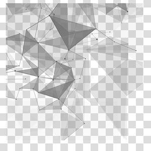 Teknologi Euclidean, Teknologi materi kreatif, abstrak biru dan hitam png