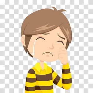 Kartun The Crying Boy, The crying boy, ilustrasi man cry png