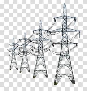 Menara transmisi hitam, Menara transmisi listrik. Transmisi tenaga listrik, energi png