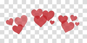 ilustrasi hati merah, filter grafis Heart PicsArt Studio, latar belakang cinta png