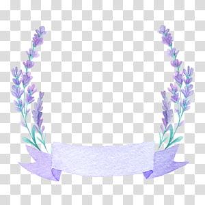 Undangan pernikahan Lukisan cat air Perancis lavender Bunga, lavender yang indah, ilustrasi lavender png