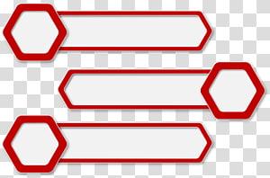 , Perbatasan merah, tiga kotak dialog putih png