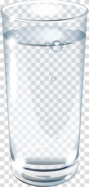 diisi ilustrasi gelas minum bening, Gelas Gelas, Secangkir air png
