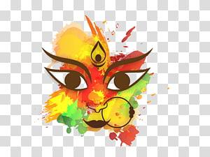 grafis dewa hindu, Durga Puja Dussehra Kebahagiaan Navaratri, Dussehra Gratis png