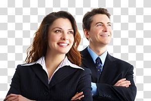 pria dan wanita mengenakan jaket jas hitam, Organisasi Konsultan Manajemen Pengusaha, orang-orang bisnis png