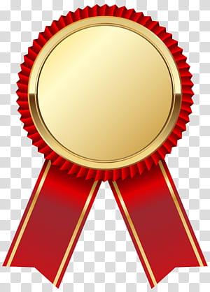 Ribbon Scalable Graphics, Medali Emas dengan Pita Merah, pita merah dan coklat png