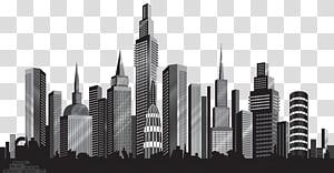 Cityscape Skyline, Cityscape Silhouette, ilustrasi cityscape PNG clipart