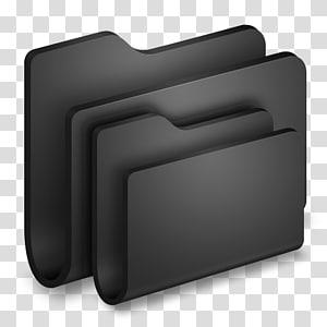 dua folder abu-abu, persegi panjang, Folder Folder Hitam png