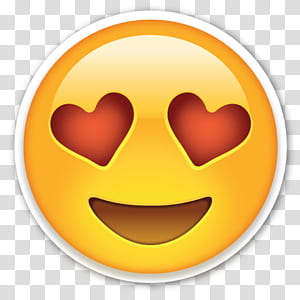 Emoji Emoticon Smiley, Love Hearts Eyes Emoji, emoji dengan ilustrasi mata hati png