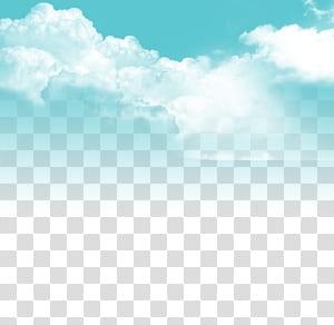 Awan Langit, Langit biru dan awan putih, langit berawan pada siang hari png