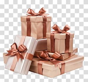 Kotak Hias Gift Ribbon Gold, Gift png