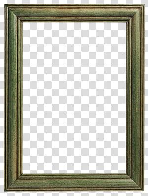 bingkai kayu hijau persegi panjang, bingkai Kayu Vintage pakaian, bingkai kayu png