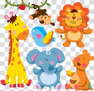 Kartun Hewan Jerapah Ilustrasi, Kartun hewan, berbagai macam stiker hewan png