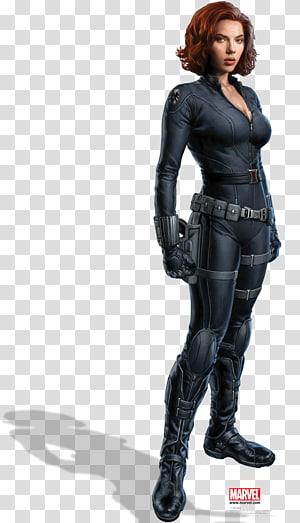 Ilustrasi Black Widow Marvel, Scarlett Johansson Black Widow Iron Man Clint Barton The Avengers, Black Widow png