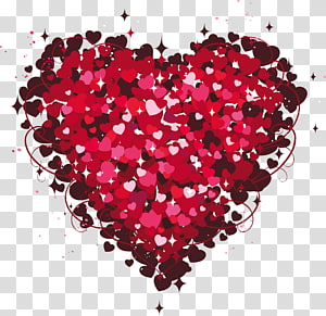 Jantung Hari Valentine, Heart of Hearts, pink hati png