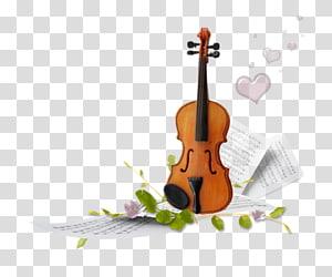 Ilustrasi lembaran biola dan musikal, Alat musik, Musik biola png