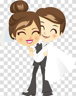 ilustrasi pengantin pria dan wanita, Pernikahan Mempelai Pria, pasangan suami istri png