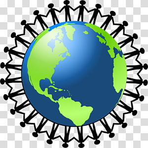 planet bumi hijau dan biru, konten Globe World Free, Cartoon People Holding Hands PNG clipart