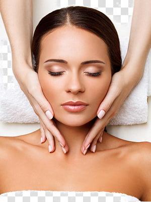 orang memijat wajah wanita, Terapi Pijat Wajah, Kulit, Kecantikan Salon, Lakukan kecantikan pijat wajah PNG clipart