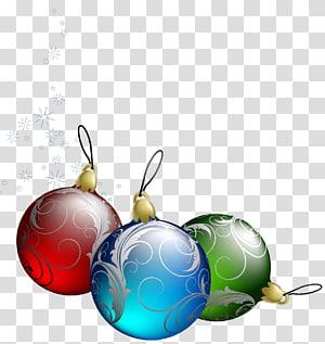 tiga pernak-pernik, ornamen Natal dekorasi Natal pohon Natal, Hiasan Pohon Natal png