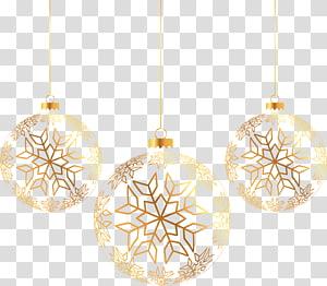 ilustrasi ornamen berwarna emas, Bola Natal Emas png
