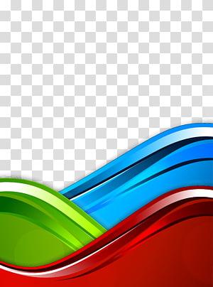 Model warna RGB biru, Latar Belakang Kurva, biru, hijau, dan merah png