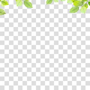 ilustrasi grafis perbatasan daun hijau, Pola Daun Area, Daun png